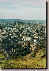 View of Edinburgh Castle from Crag's highest point