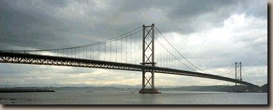 The forth road bridge from south queensferry